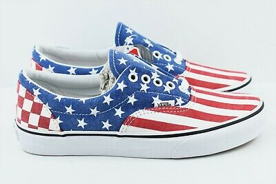 c44d3878d7 VANS ERA STARS   Stripes Mens Shoes (NEW) America USA FLAG Americana ...