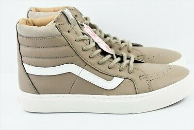 a2f74602112ed0 VANS SK8 HI Cup Leather Iron Brown Blanc Sz Men s 7.5   Women s 9 ...