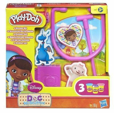 Play-Doh PlayDoh Play Doh Doc McStuffins Doctor Kit Toy Inc 3x Play-Doh Pots NEW