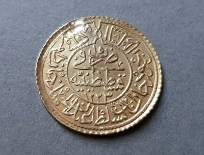 RARE AUTHENTIC GOLD OTTOMAN Turkey COIN 2.35 grams Sultan Mahmud II 1223 or 1808
