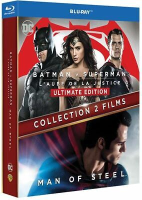 BATMAN VS SUPERMAN Ultimate Edtion / MAN OF STEEL Coffret Bluray NEUF