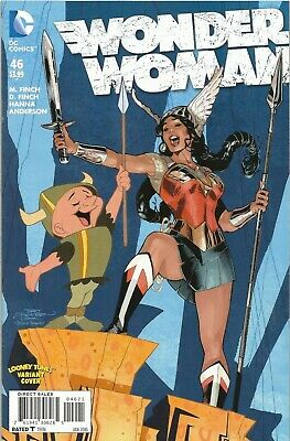 Free P & P - Wonder Woman #46 - Looney Tunes Variant Cover!