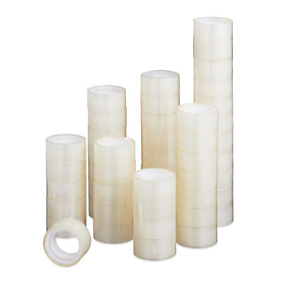 Stationery Adhesive Tape 18mmx8m, Sticky Tape, Craft Tape, 48 Clear Rolls