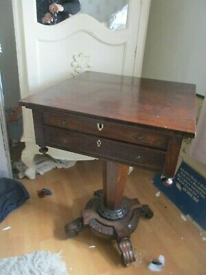 William IV Rosewood Sewing Table