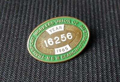 Vintage Transport Workers Union 1965 Members Badge Pin Back Nsw Branch Twu
