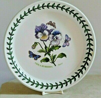 """PORTMEIRION Botanic Garden ~ 6.0"""" Bread Plate ~ PANSY  ~ 2nd Quality"""