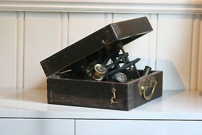 Fire damaged Sextant with box from A. Johannsen & Co. London
