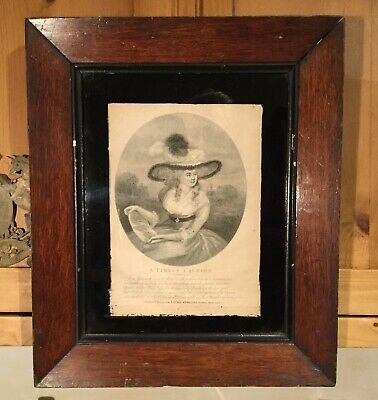 Antique Georgian Engraving, A Timely Caution, 1794 by Laurie & Whittle, Framed