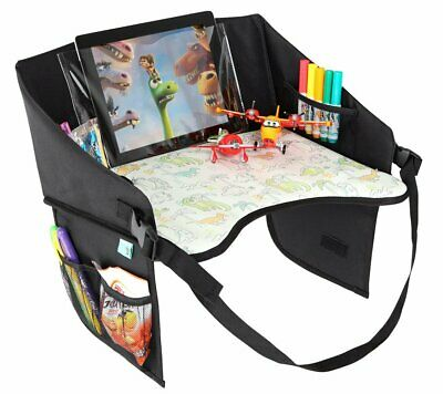 Kids Travel Tray for Cars Plane Stroller Lap - Car Seat Activity Table Dinosaurs