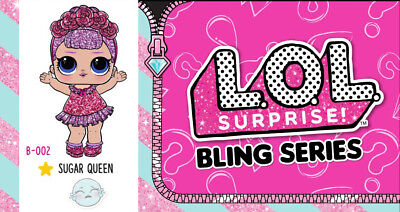 Lol Surprise Doll Bling Holiday Glam Glitter Series Sugar Queen Gold New, Sealed