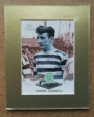 TOMMY GEMMELL CELTIC 1967 EUROPEAN CUP WINNERS SIGNED TRADE CARD 5 x 4 MOUNTED