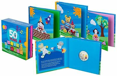 2016 50c 50 years of Play School Coloured Coin Set Jemina Humpty Big Little Ted