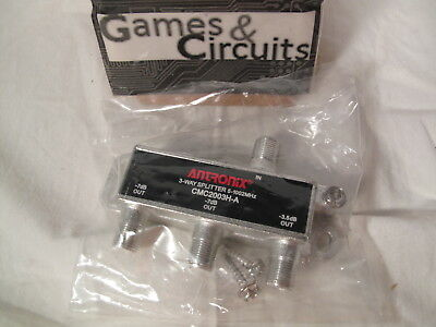 Antronix 3-way High Performance Coaxial Splitter Signal CMC2003H-A Cable TV HD