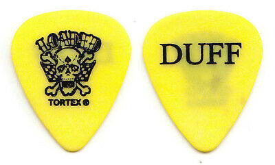 Loaded Duff McKagan Signature Yellow Guitar Pick - 2002 Tour GNR Guns N' Roses