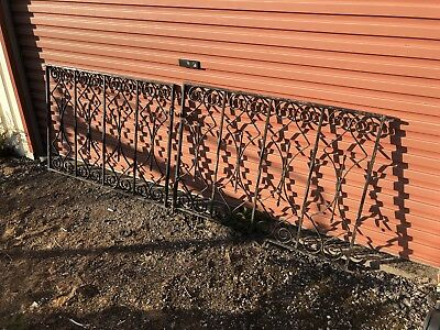 Pair of Stunning Antique Wrought Iron Double Gates