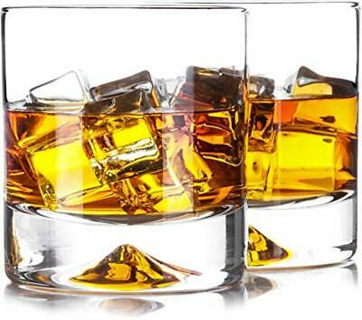 Premium Whiskey Glasses - Lead Free Hand Blown Crystal - Thick Weighted Bottom