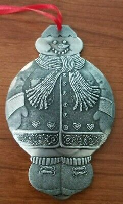 Wendell August Hand Forged Aluminum Snowman Ornament 2011