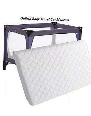 Travel Cot Mattress 95 x 65 x 5 cm New Extra Thick Soft Cosy For Baby Travel Cot