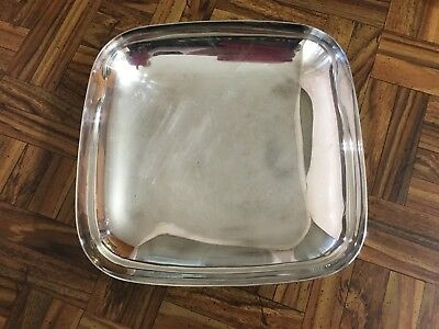 "Mid Century Reed & Barton Silverplated Square Bowl ~ Embassy ~ #1141 8"" X 8"""