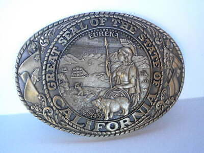 The Great Seal Of The State Of California Belt Buckle Tony Lama Collection