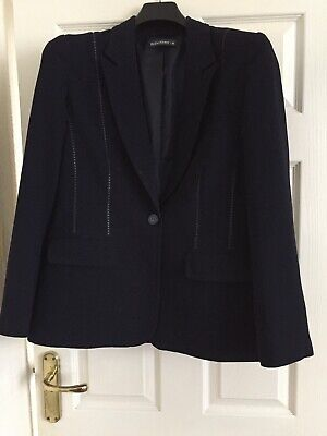 Reflections Ladies Navy Blue Tailored Jacket - Size 14