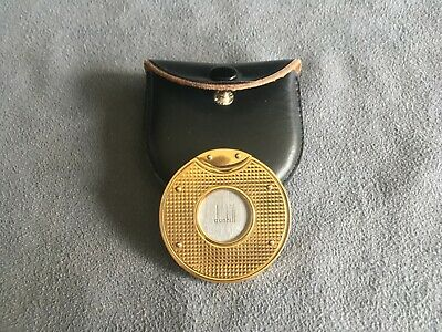 ALFRED DUNHILL - ROUND CIGAR CUTTER - STAINLESS STEEL + 18ct GOLD PLATED - TOP !