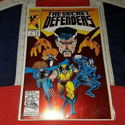 The Secret Defenders #1 - First Issue Red Foil Cover - Dr Strange Wolverine