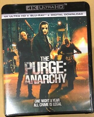 THE PURGE ANARCHY 4K ULTRA HD BLU-RAY ONE DISC MOVIE Used Broken Case Shown Pic