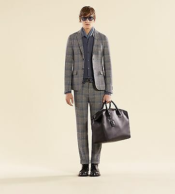 Gucci Runway PRINCE OF WALES Check Wool Suit Jacket 46 IT 36 US+Trousers 44IT 32