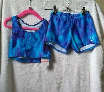 BNWT Girls Crop Top and Shorts Set size 30 by Zeds Leotards