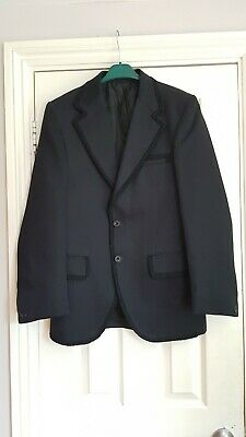 Vintage black evening dinner  jacket tuxedo braid trim 38 chest