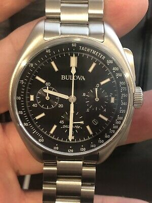 BULOVA MOON WATCH  MODEL 96B258 Preowned Superb Condition