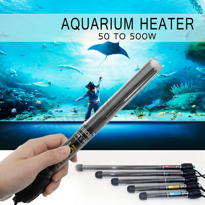 3M 50 to 500W Heat Quartz Aquarium Heater Submersible Fish Tank Thermostat Cable