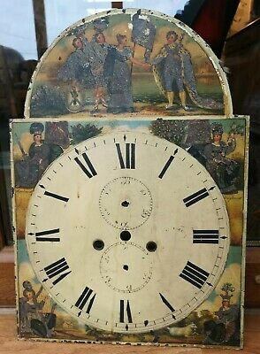 Antique Grandfather Clock Dial