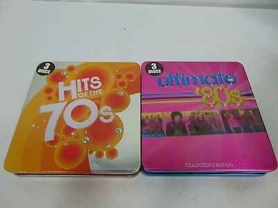 LOT OF 2 Ultimate 80s & Hits of the 70s 3-CD Various Artists 2006 2007 3 Discs