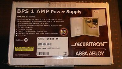 Securitron BPS-24-1-CH (Chicago Complaint). 12/24vdc. New in Box. Fire over ride