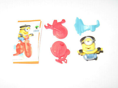 "Kinder Egg Uk "" Minions Around The World "" French Bike Toy 3"