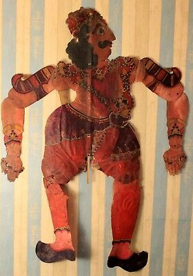Large antique original shadow puppets 19th century traditional collectible art.