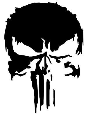 New Punisher 2.0 Style Marvel Comic Decal Car  Truck Vinyl Sticker ( 12 COLORS )