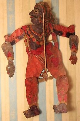Vintage antique large shadow puppets indian art 19th century collectible puppets