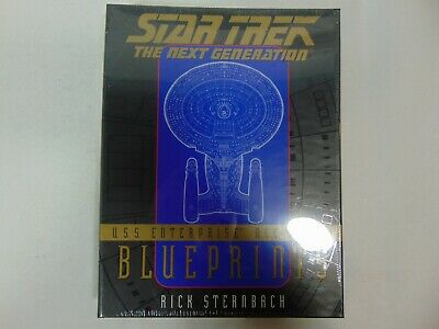 New U. S. S. Enterprise NCC-1701-D Blueprints by Rick Sternbach (1996,Paperback)