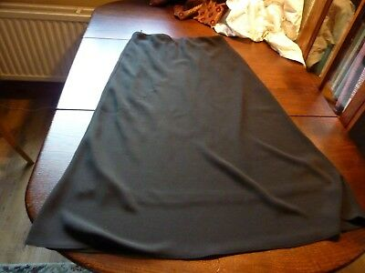 Mona Lisa Size 16 Black Polyester Lined Long Skirt Elasticated Waist
