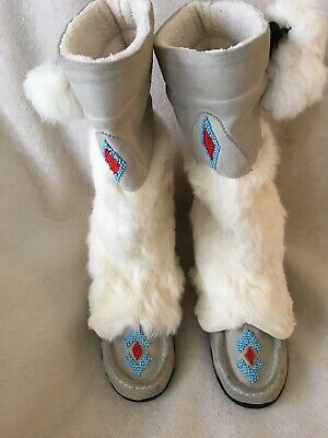 online store affordable price watch STEVE MADDEN NATIVE AMERICAN STYLE MOCCASIN BOOTS/RARE HARD to ...