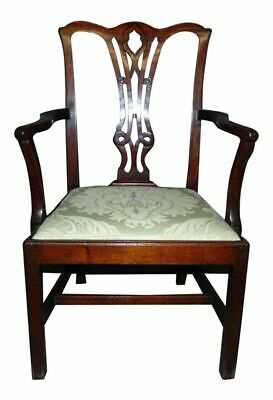 Antique English Childs Size Mahogany Chippendale Armchair
