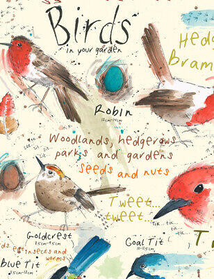 A4 British Garden Bird Ornithology Chart Nature Print Poster