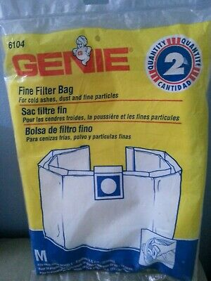 Genie fine filter bag Quantity 2  Fits most brands 5-8 Gallons 6104