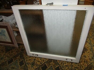 Vintage Antique Privacy Glass Bottom Sash