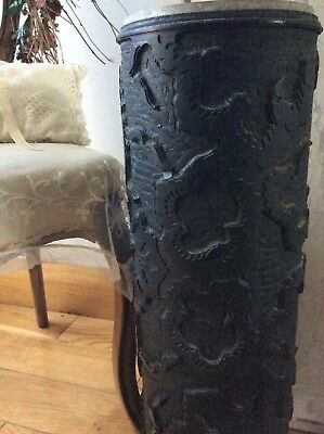 Antique French Industrial Wallpaper printing Roller-Unique & Very Rare-Collector