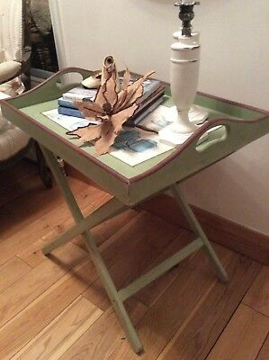 Vintage Butler Serving Tea Tray /Folding Stand ~Occasional Table ~Breakfast Tray