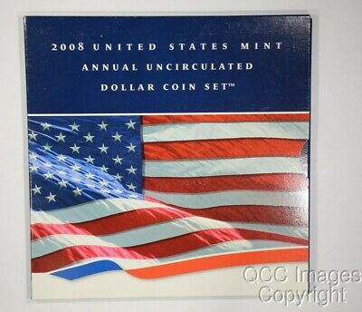 2008 Annual Uncirculated Dollar Coin Set w/ Silver Eagle SEALED!